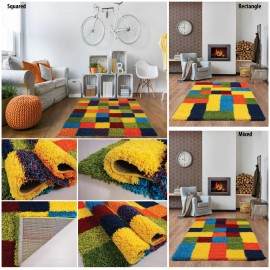 Multi-Coloured-Mixed-Design-Shaggy-Rugs