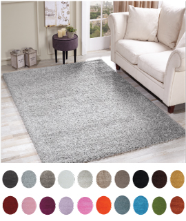 912 Oxford Plain Shaggy Rugs